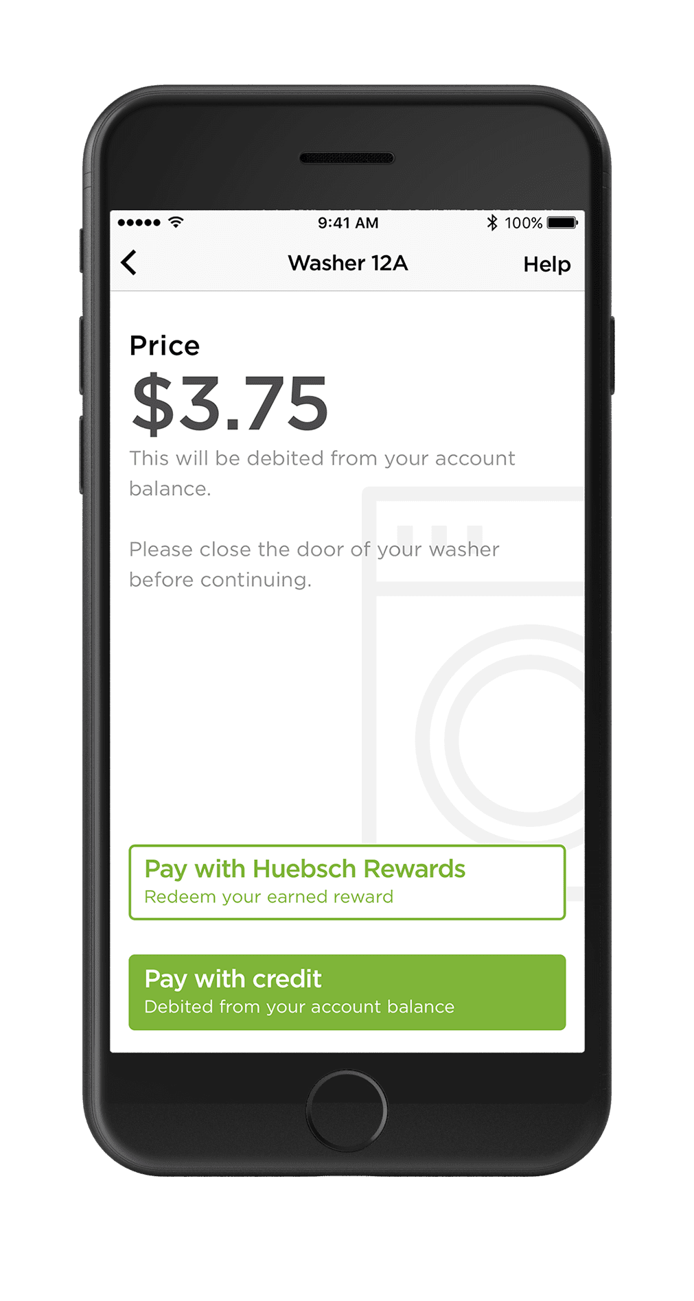 App Payment Phone Screen
